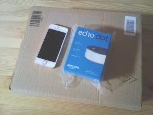 Amazon Echo Dotのパッケージ