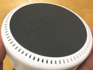 Amazon Echo Dotの底面はラバー加工