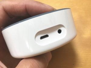 Amazon Echo DotにはmicroUSB端子とステレオジャックが