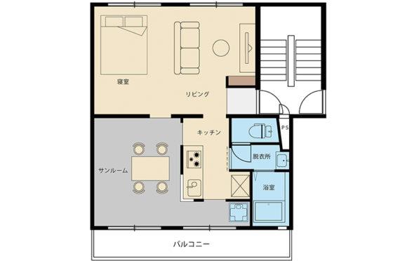 サンルームがある家@茶山台団地リノベ45