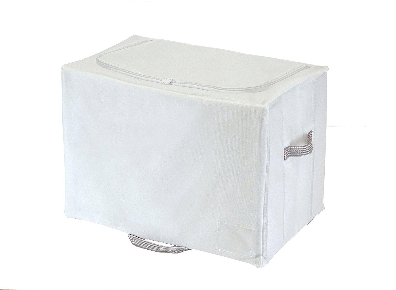 東和産業・収納袋 MSC 棚上すっきり収納 クローゼット ホワイト 掛けふとん用 85690
