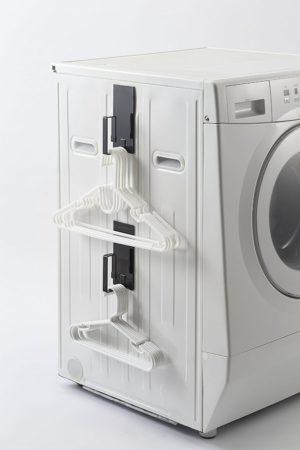 山崎実業・マグネット 洗濯機横 洗濯ネットハンガー タワー ブラック 3622