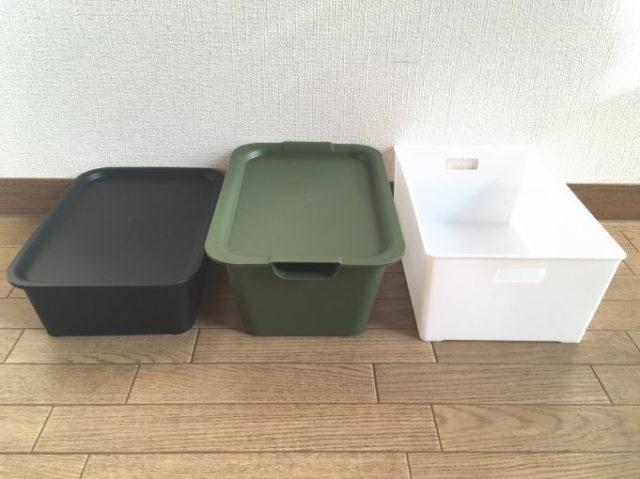 山田化学「フタ付きプレーンボックス」とヒマラヤ「フタ付きプラBOX(M型)」の比較