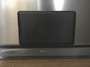 ココピタで冷蔵庫にタブレット端末を貼り付けてみた