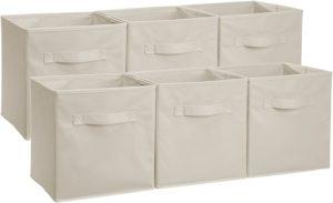 Amazonベーシック・折りたたみ式収納キューブボックス - 6個セット ベージュ