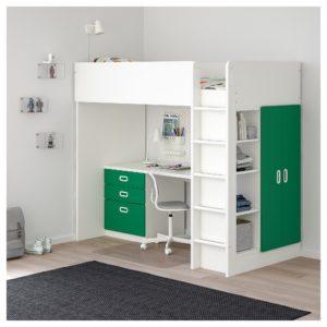 IKEA・STUVA(ストゥヴァ)/ FRITIDS(フリーティズ)ロフトベッドフレーム デスク&収納付き