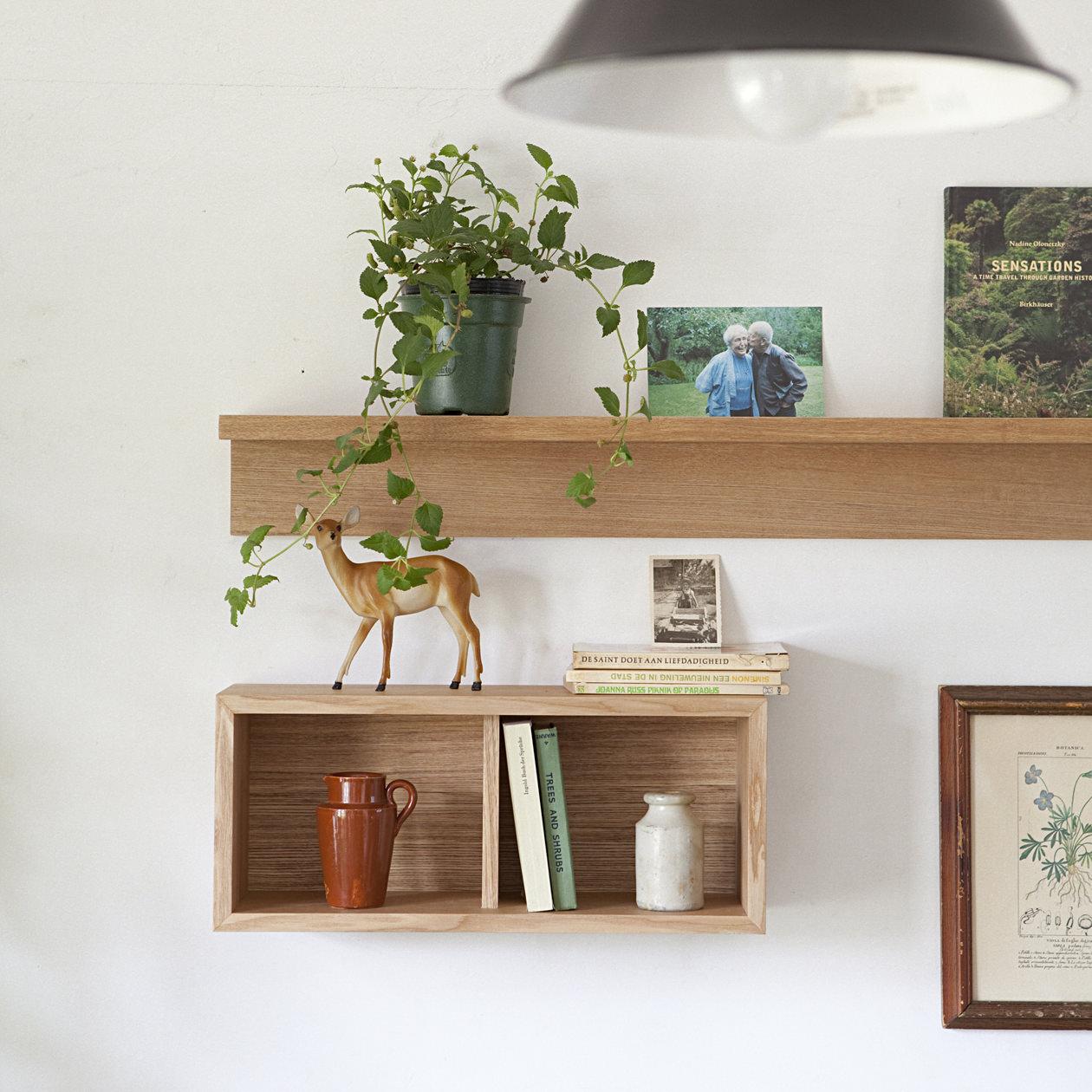 無印良品・壁に付けられる家具・箱・幅44cm・オーク材