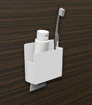 東和産業・磁着SQ・歯ブラシ&シェーバーホルダー39203