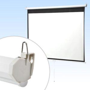イーサプライ・吊り下げ式プロジェクタースクリーン100インチ EEX-PST1-100