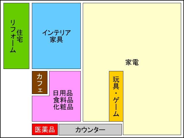 家電住まいる館YAMADA堺本店 売場配置図