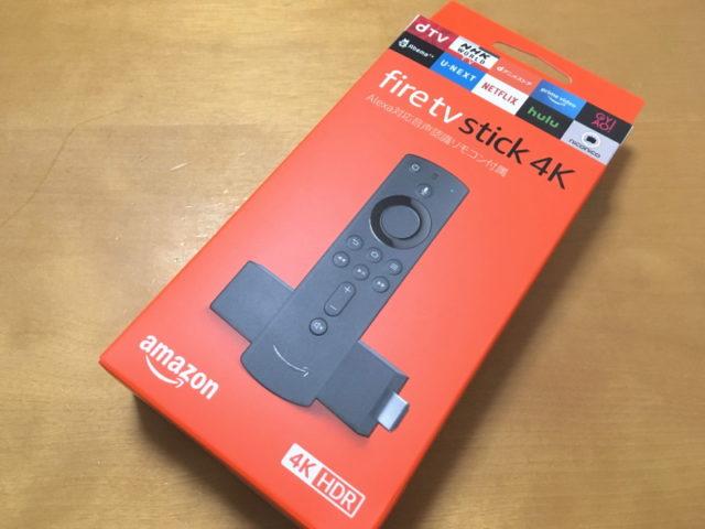 新登場のAmazon「Fire TV Stick 4K」パッケージ
