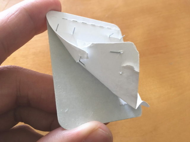 石膏ボード壁用補助板は再使用不可