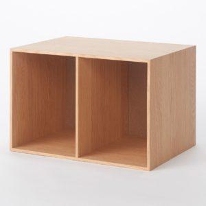 無印良品・・木製収納ケース・オープン・ワイド・オーク材