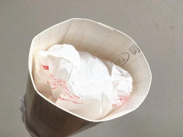 自作やわらかゴミ箱の底面