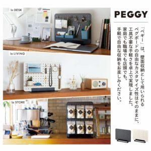 キングジム・ボード 卓上収納 有孔ボード 工具不要 PEGGY 白 PG400シロ