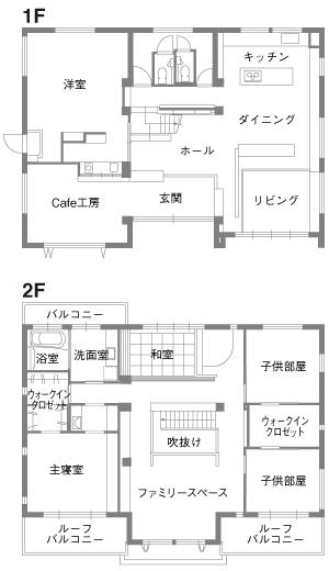 トヨタホーム@中百舌鳥住宅公園 間取り図