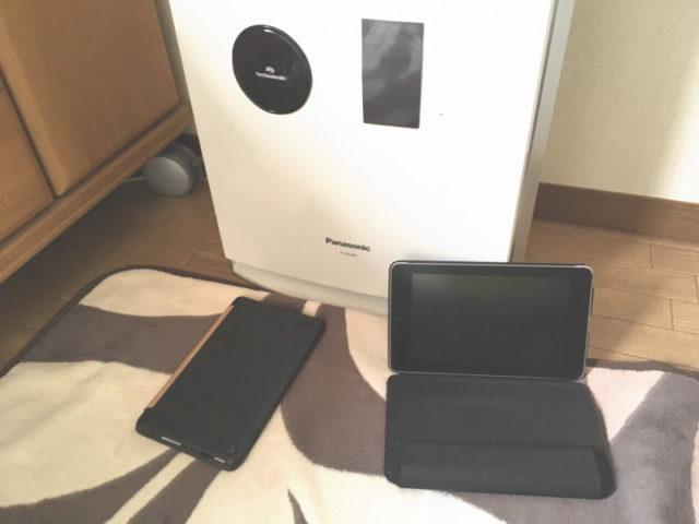 ココピタと自撮りシートでタブレットをケースごと貼ってみた