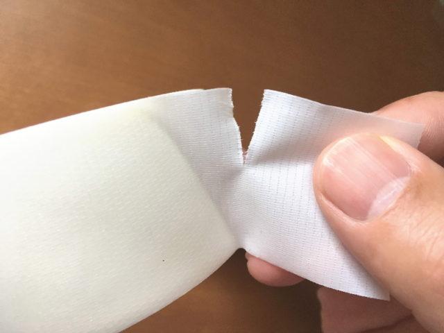 ティーライトテープは手で切れる