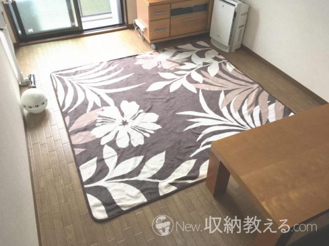 我が家のリビングのカーペット