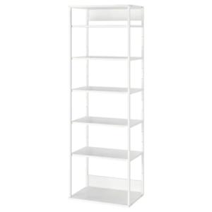 IKEA・PLATSA・オープンシェルフユニット, ホワイト, 60x40x180 cm
