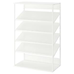 IKEA・PLATSA プラッツァ オープン靴収納ユニット, ホワイト, 80x40x120 cm