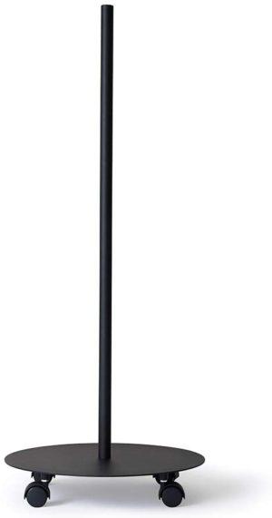 平安伸銅工業・DRAW A LINE MOVE ROD キャスター付きポール ブラック D-MR-BK