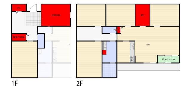 収納マンの新居の造り付け収納スペースは少ない