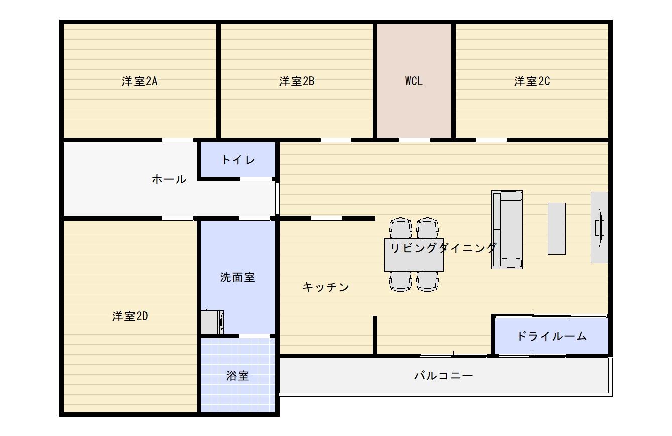 収納マンの新居の間取りはまるでマンションのよう