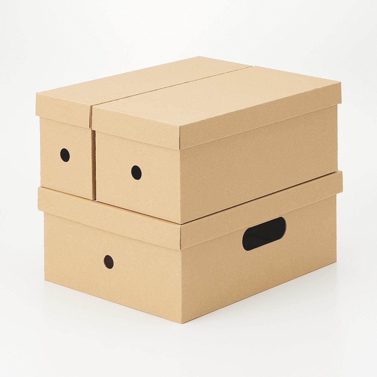 無印良品・ダンボールファイルボックス 高さ1/2サイズ