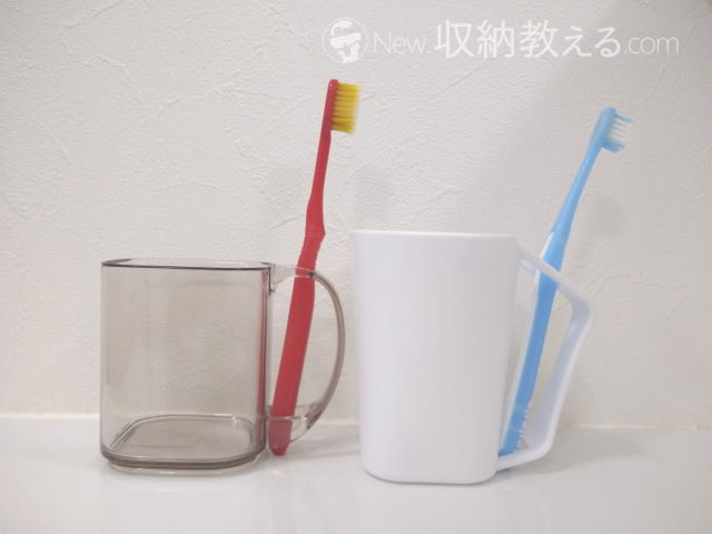 KEYUCA・polistハブラシコップとエコー金属・歯ブラシ立てコップ
