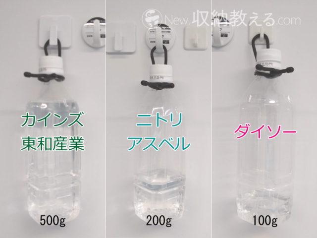 カインズ、ニトリ、ダイソーの浴室用マグネットフックの耐荷重を比較