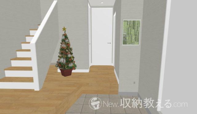 当初のクリスマスツリー設置予定図