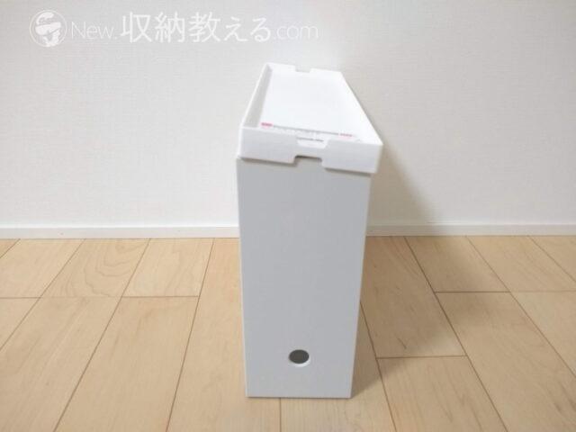 ダイソーのファイルボックス用フタは無印良品には使えない
