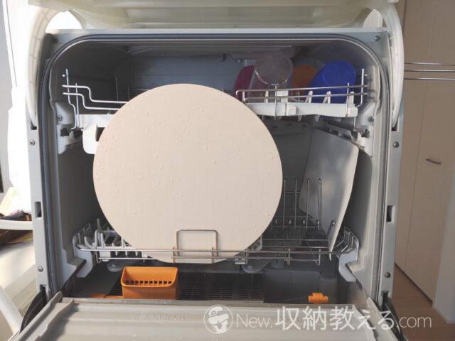 ダイキョー・抗菌まな板パルト 丸型Mサイズは据え置き型の食洗機にも入る