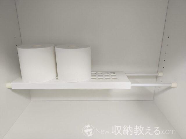 設置方法3.棚板と突っ張り棒を設置して完成