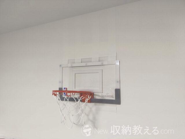 カモ井の白いマステでミニバスケットボールゴールを設置