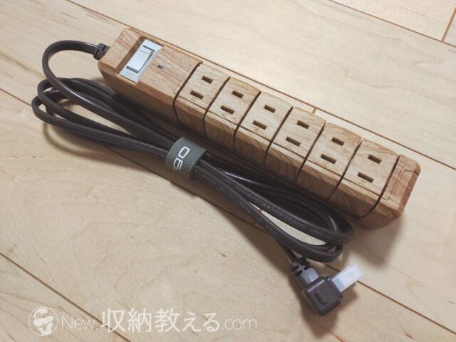 Fargo・TAPKING AC6個口 ベージュウッドPT606BEWDは面テープタイプのケーブルタイ付き