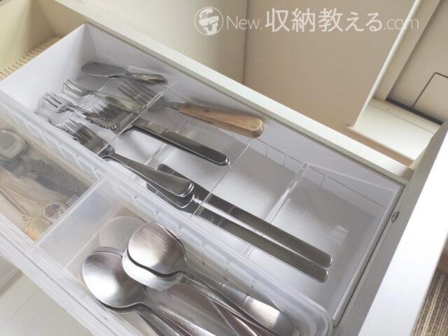 山崎実業・立体斜めカトラリーケースtowerにナイフやフォークを収納してみた