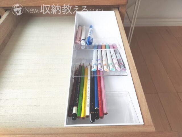 山崎実業・立体斜めカトラリーケースtowerはペンも収めやすい!