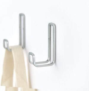 SORO:U ステンレス ダブル ピンフック 2個入 (耐荷重6kg) 18-8ステンレス製 取り付けガイド付