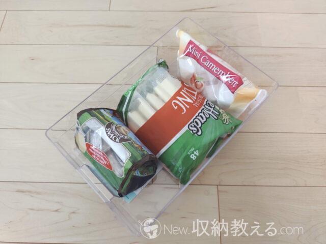 ダイソー・冷蔵庫用収納ケース 200円キッチンプラNo.61 4550480008547 320×208×100